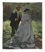 Bazille And Camille Fleece Blanket
