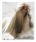 Beautiful Dog Fleece Blanket