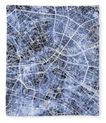 Berlin Germany City Map Fleece Blanket