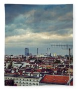 Berlin Skyline Fleece Blanket