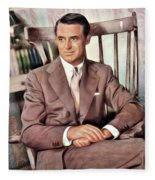 Cary Grant, Vintage Actor Fleece Blanket