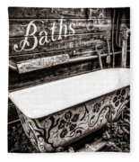 5 Cent Bath Fleece Blanket