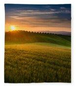 Cereal Fields Fleece Blanket