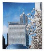 Chicago Bean Millenium Park Fleece Blanket