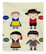 Children Of The Word Fleece Blanket