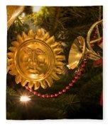 Christmas Tree Decorations Fleece Blanket