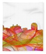 Colorado Springs Colorado Skyline Fleece Blanket