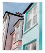 Colorful Houses Fleece Blanket