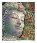 Colorful Indian Diety Figure Fleece Blanket