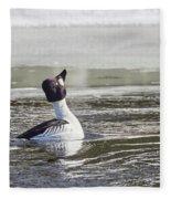 Common Goldeneye Fleece Blanket