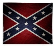 Confederate Flag 8 Fleece Blanket