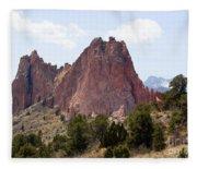 Dakota Trail At Garden Of The Gods Fleece Blanket