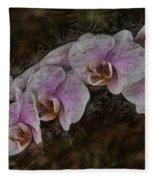 5 Dollar Orchid Fleece Blanket