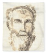 Drawing Of Ancient Sculpture Fleece Blanket