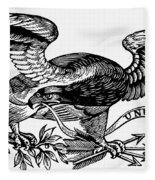 Eagle, 19th Century Fleece Blanket