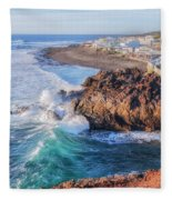 El Golfo - Lanzarote Fleece Blanket