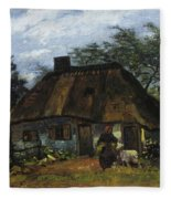 Farmhouse In Nuenen Fleece Blanket