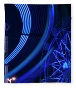 Ferris Wheel In Motion Fleece Blanket