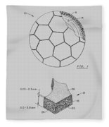 Football Patent Fleece Blanket