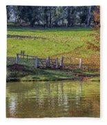 Golden Valley Tree Park Fleece Blanket