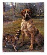 Good Friends Edmund Henry Osthaus Fleece Blanket