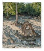 Grupo Coba At The Coba Ruins  Fleece Blanket