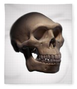 Homo Erectus Skull Fleece Blanket