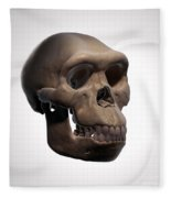 Homo Habilis Skull Fleece Blanket