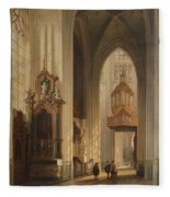 Interior View Of Namur Cathedral Fleece Blanket