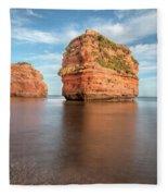 Ladram Bay - England Fleece Blanket