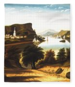 Lake George And The Village Of Caldwell Fleece Blanket