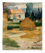 Landscape Near Arles Fleece Blanket