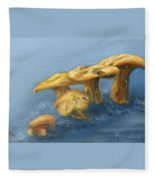 Five Little Mushrooms Fleece Blanket