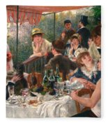 Luncheon Of The Boating Party Fleece Blanket