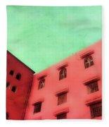 Moroccan Building Fleece Blanket