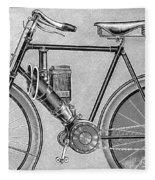 Motorcycle, 1895 Fleece Blanket