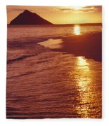 Oahu, Lanikai Beach Fleece Blanket