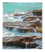 5- Ocean Reef Shoreline Fleece Blanket