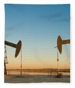 Oil Rig Fleece Blanket
