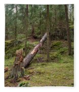 Old Forest In Kauppi Tampere Fleece Blanket