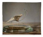 Paper Butterfly Fleece Blanket