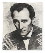 Peter Cushing, Vintage Actor Fleece Blanket