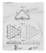 Pool Table Triangle Patent From 1915 Fleece Blanket