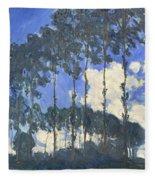Poplars On The Epte Fleece Blanket