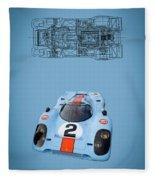 Porsche 917 Fleece Blanket