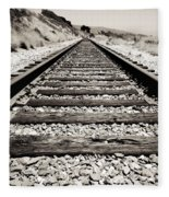 Railway Tracks  Fleece Blanket