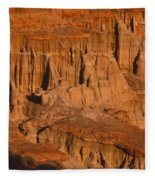 Red Cliffs  Fleece Blanket