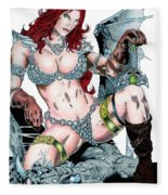 Red Sonja Fleece Blanket