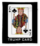Reelect Trump For President Keep America Great Dark Fleece Blanket
