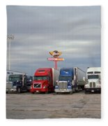 Route 66 - Dixie Truckers Home Fleece Blanket